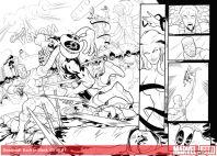 Deadpool: Back In Black (2016) #1 Inks by Salva Espin