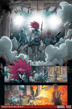 Deadpool: Back in Black #1 preview art by Salva Espin